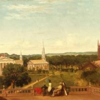 New Haven Green and Grove Street Cemetery, by Ellen Strong Bartlett